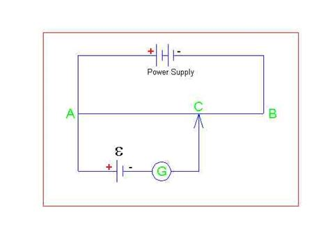potentiometer circuit diagram potentiometer how that balancing point is reached