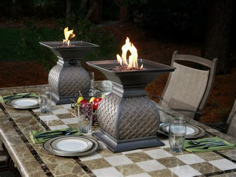 urns by agio outdoor dining centerpiece ideas