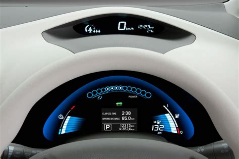 car dashboard upholstery nissan leaf electric vehicle 2010 interior img 9 it s