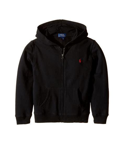 Jaket Hoodie Polos 6 polo ralph collection fleece zip hoodie polo black zappos