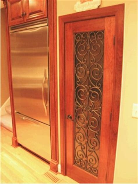 faux iron  pantry door home decor pinterest
