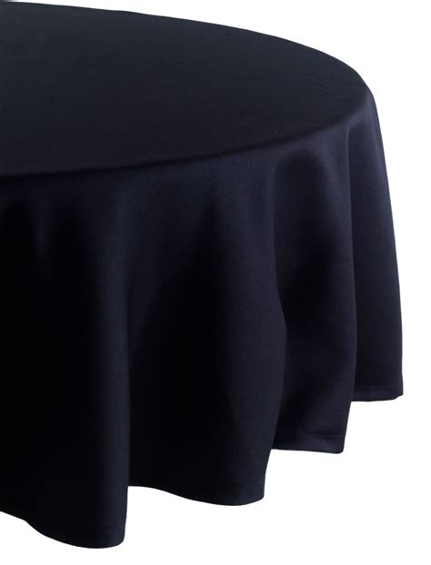 black linen tablecloth essential home 70in round black tablecloth home dining