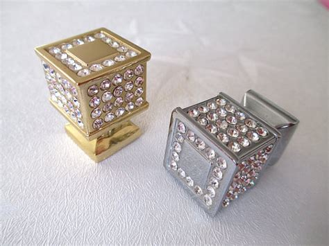 Bling Drawer Knobs by Rhinestone Glass Knobs Knob Drawer Knobs Dresser Pulls