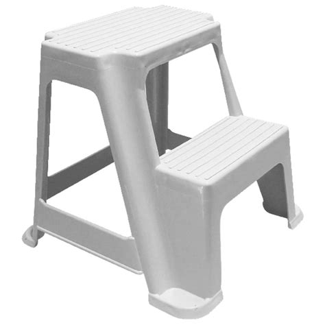 White 2 Step Stool by 2 Step Stool 150kg White Ebay