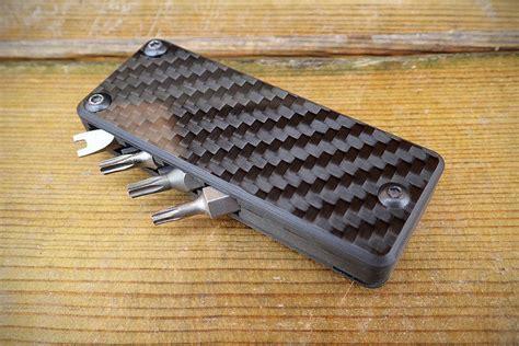 carbon fiber multi tool handsome carbon fiber cassette puts four screwdrivers of