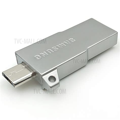 Samsung Metal Otg Card Reader With Evo Microsdhc 32gb Baru samsung metal otg usb flash drive card reader with 32gb