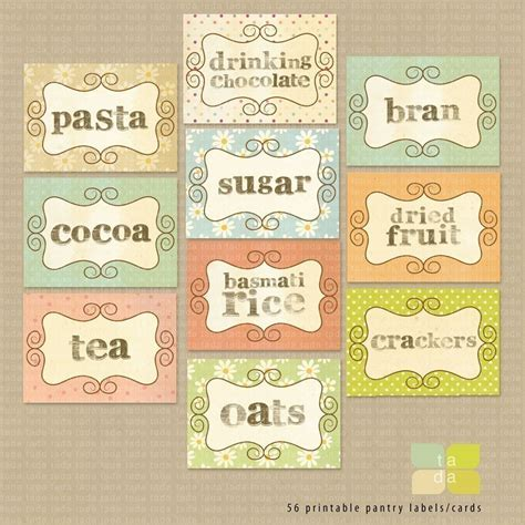 printable pantry labels pantry kitchen stickers labels print your by