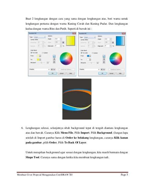 membuat proposal dengan coreldraw tutorial membuat cover proposal menarik menggunakan coreldraw