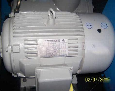 eaton industrial true  hp rotary screw air compressor