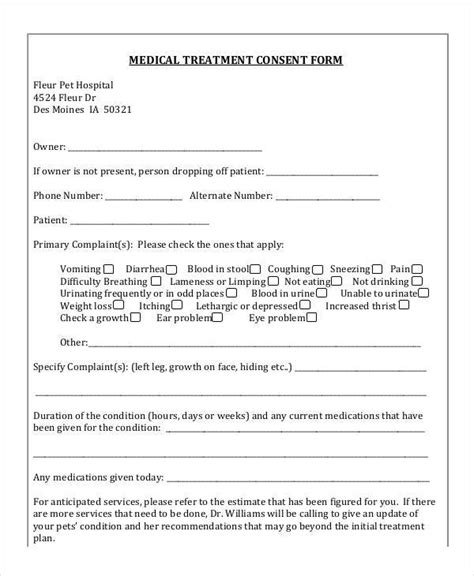 Medication Consent Form Template by Treatment Authorization And Consent Form