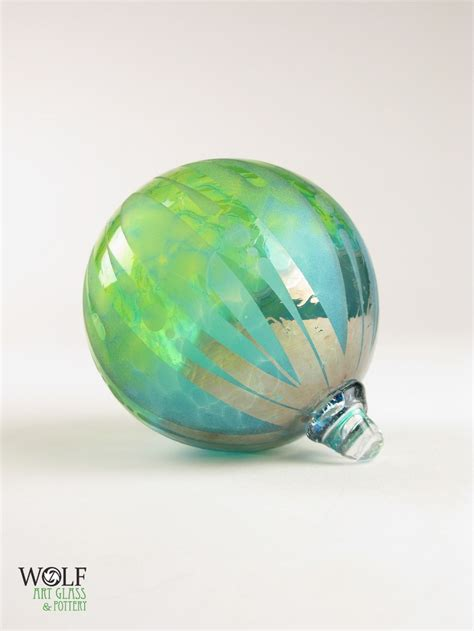 blown glass christmas tree ornament etsy finds pinterest