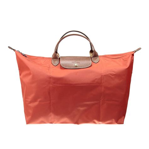 Longch Le Pliage Large Handle longch handbag le pliage large handle in orange lyst