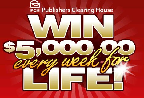 Enter Publishers Clearing House - win 5000 a week for life from publishers clearing house autos post
