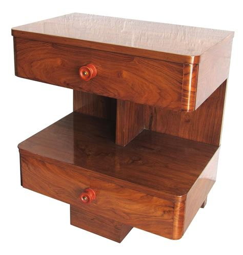 american deco rosewood sofa side table modernism