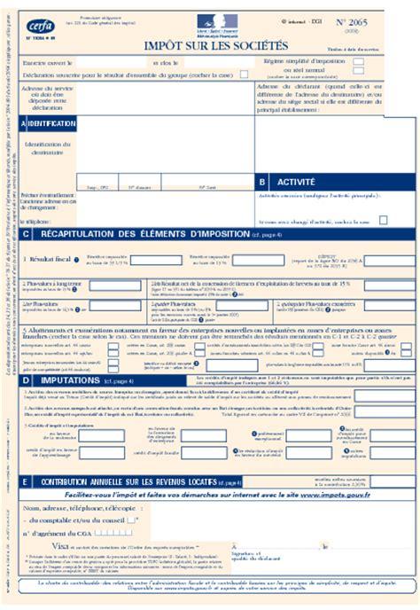 Formulaire Credit D Impot 2015 D 233 Claration D Imp 244 T Sur Les Soci 233 T 233 S Formulaire Cerfa Documentissime