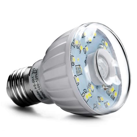 Led Motion Sensor Light Bulbs 3w E27 Led Pir Motion Sensor Auto L Bulb Infrared Light L Auto Detector Ebay