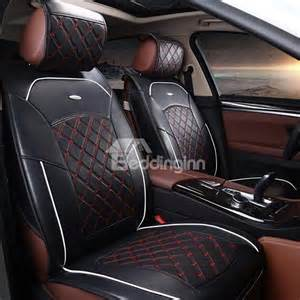 Tartan Car Seat Covers For Sale Formal And Classic Plaid Patterned Leather Material Car