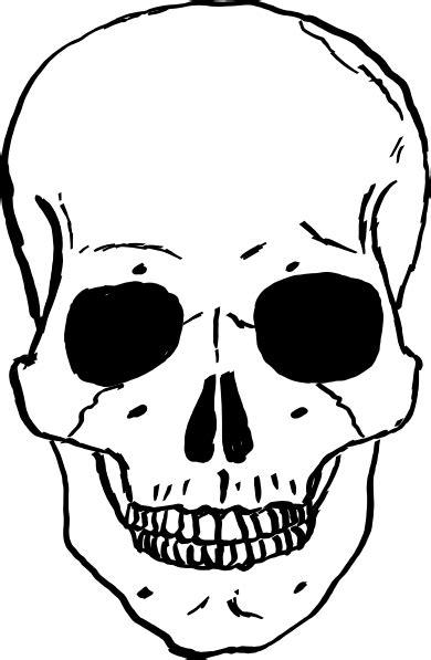 cartoon skull coloring page human skull clip art at clker com vector clip art online