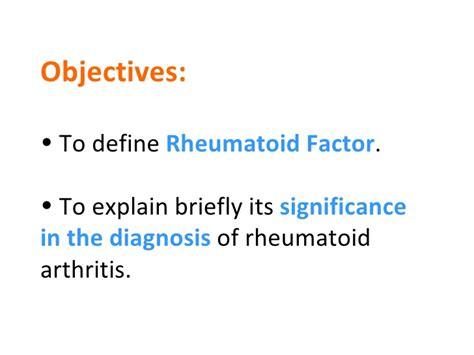 Rã Sumã Definition Rheumatoid Factor And Its Diagnositc Significance