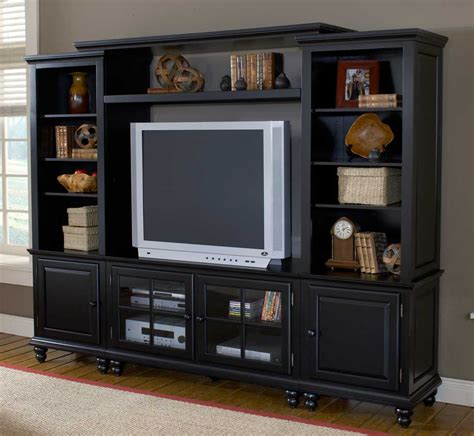 cheap centers hillsdale grand bay small entertainment wall unit black 6123sec hillsdalefurnituremart