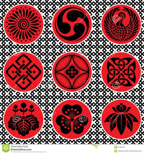 japanese ornament japan ornament elements stock vector image of design