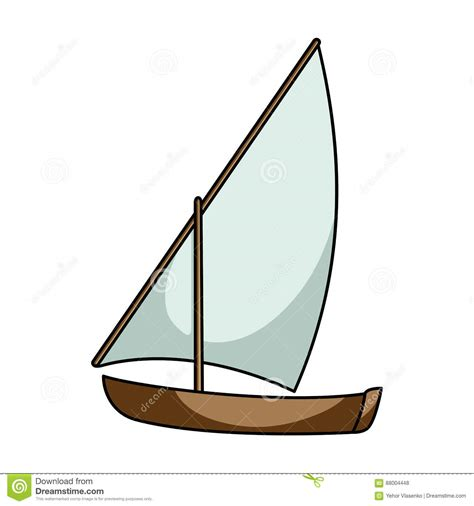 dhow boat icon little river sailing for fun the boat which sails through
