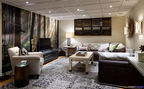 latest modern basement living room ideas and exciting also