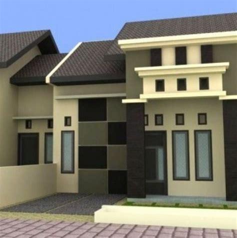warna cat coklat muda rumah minimalis tampak depan