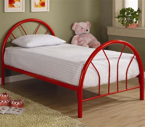 red twin bed brooklyn twin red metal bed kids beds