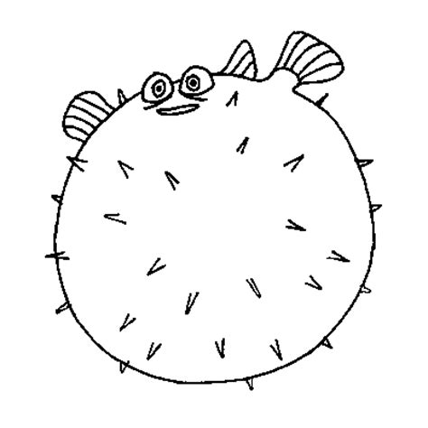 bloat finding nemo coloring page coloring bloat from finding nemo