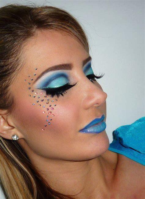 dramatic blue cut crease blue lips renata ss photo