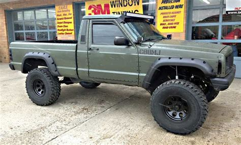 1988 lifted jeep comanche jeep comanche 4 5 bushwacker brigade badass off roads