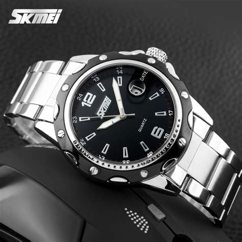 Jam Tangan Stainless Steel Back skmei jam tangan analog pria stainless steel 0992c