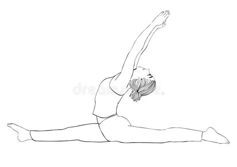 Drawing Of A Doing The Splits by Pose To Do The Splits Vector Coloring Drawing