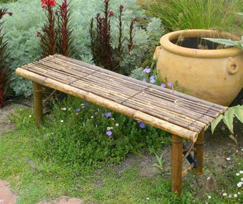 Bamboo Garden Bench bamboo garden bench garden projects
