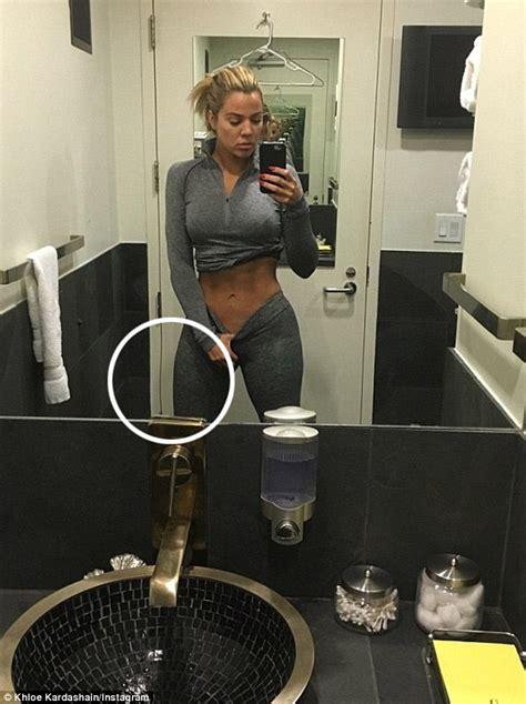 khloe kardashian nude in bathtub khloe kardashian s makeup artists post sexy underwear shot