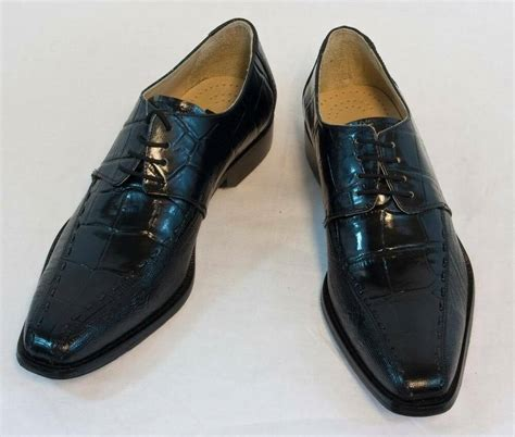 new fortune black croco lizard dress shoes by liberty leather l 633 ebay