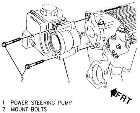 1997 gmc truck jimmy 2wd 4 3l fi ohv 6cyl repair guides power steering pump removal