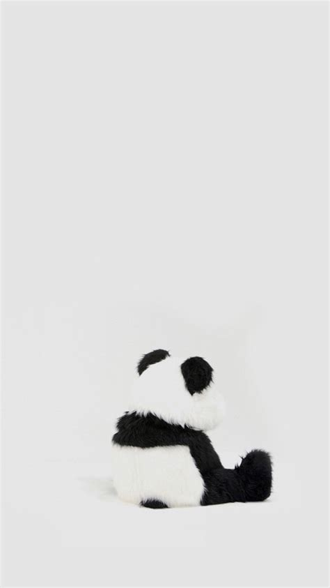 wallpaper iphone panda minimal simple panda back iphone 6 plus wallpaper