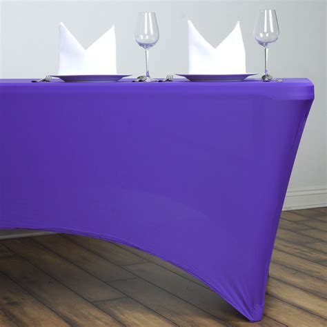 fitted tablecloths for rectangular tables 6 pcs 6 ft rectangle spandex stretch table covers fitted