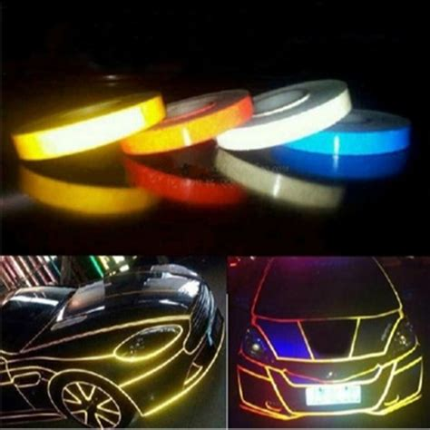 Sticker Mobil Stiker Mobil Open For Car Door car styling magic reflective 1cm 5m automotive motorcycle decoration for opel