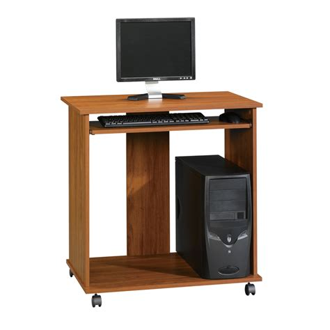 shop sauder beginnings pecan computer desk at lowes