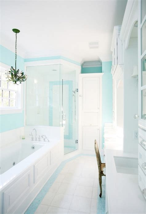 blue paint contemporary bathroom sherwin williams spa echelon custom homes
