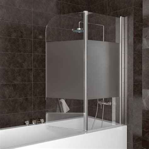 glass bath shower screen shower enclosure bathtub shower screen folding glass screen right part frosted