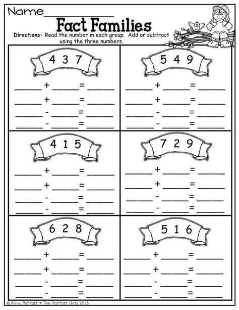 first grade information families of fact 141 best sub 1 fact families images on pinterest fact