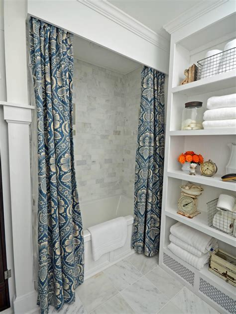 Cornice Or No Cornice Make Draperies And A Wooden Cornice For A Shower Hgtv