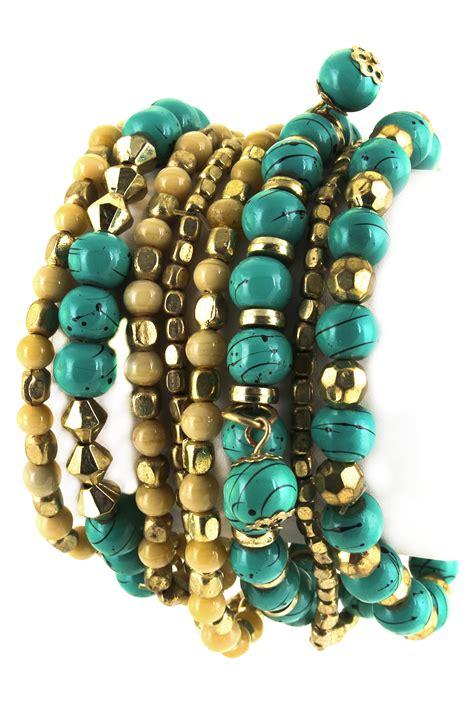 glass beaded bracelets glass bead stretch bracelet set bracelets