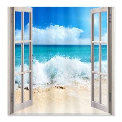 beach window curtains beach window shower curtain bathroom remodel pinterest