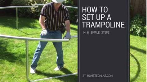 put  trampoline   easy assembly steps