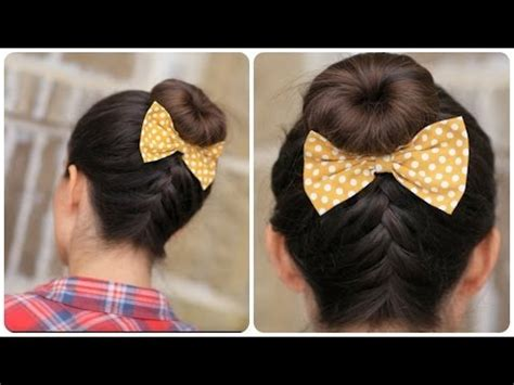 diy hairstyles cgh diy french up high bun 5 minute video tutorial on